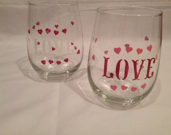 stemless red wine glass hand painted halloween design. Black Bedroom Furniture Sets. Home Design Ideas