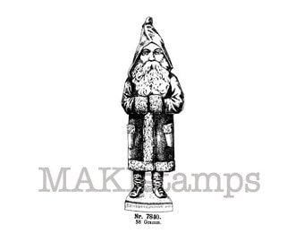 Rubber stamp Christmas / Santa Claus / Unmounted rubber stamp (140707)