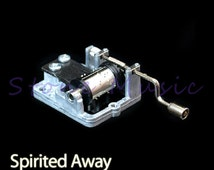 Hand Crank Musical Box/Music Box Movement Melody Spirited Away Theme Song Always With Me DIY Craft Supplies
