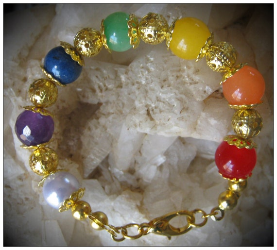 Beautiful Handmade Small Gold Chakra Bracelet