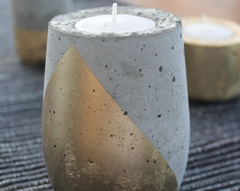 "Moonrock Candle Votive, ""Teardrop"""