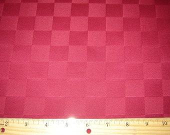 Per Yard, Jacquard Tablecloth Fabric Deep Red