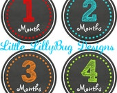 ON SALE Monthly Baby Milestone Stickers Baby Boy Baby Shower Gift One-Piece Baby Stickers Monthly Baby Stickers Baby Month Sticker Sketch 18