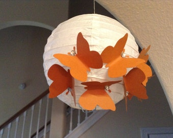 "6"" Cow Girl, paper lantern, butterfly lantern, butterfly decor, butterfly hanging, hanging ceiling decor, hanging lantern, princess room"