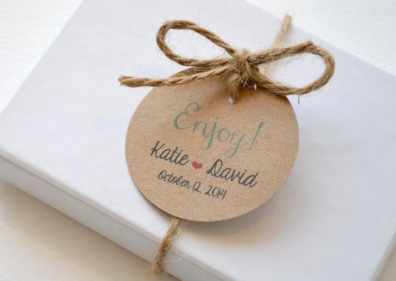 Round Wedding Gift Tags : ... Round Matte Label Tags - Custom Wedding Favor Tags, Hang Tags & Gift