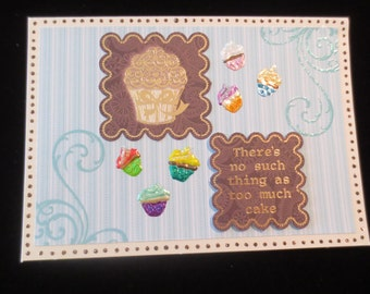 Adorable cupcake 'special day' greeting card