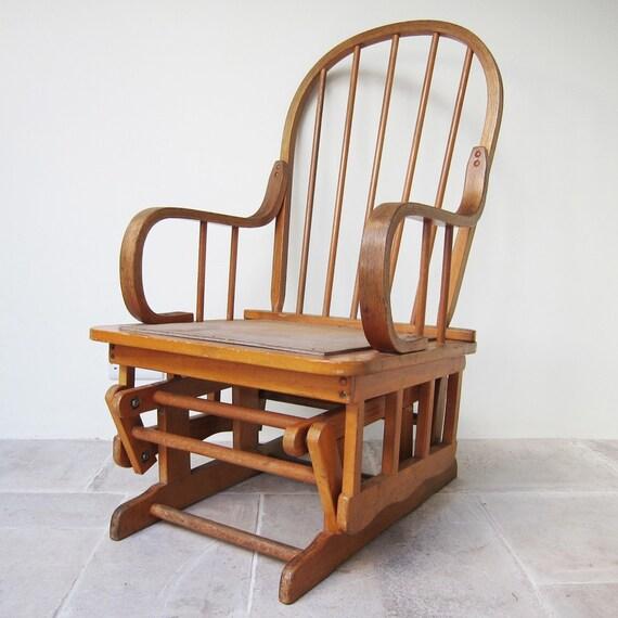 Mid Century Rocking Chair Modernist 1950s Vintage Nursing Seat