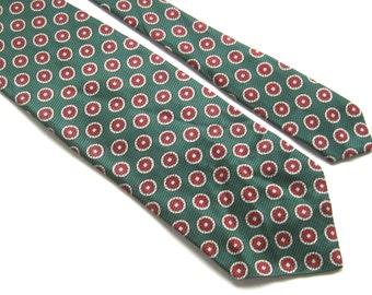 "Vintage Green Silk tie,Berkley Cravats Necktie,Wide Kipper Tie,57"" x 4.3"" Green Tie,Retro Tie,St. Patrick's Day Tie, Vintage Menswear"