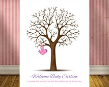 Unique Keepsake Guestbook, Thumbprint Guestbook, Nursery Decor, Nursery Wall Print, Baby Shower Keepsake Gift, Baby Girl or Boy Wall Print