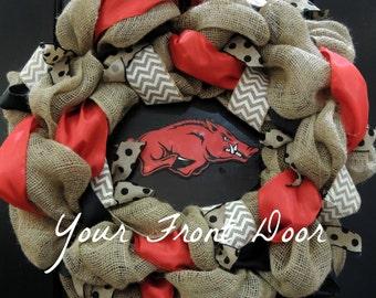 Razorback Wreath - Arkansas Razorback Wreath - University of Arkansas