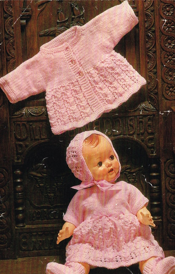 Dolls Clothes Knitting Pattern For A 16 Amp 20 Inch