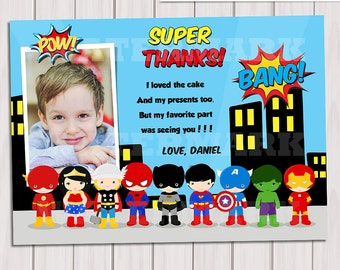 superhero thank you  etsy, Birthday card