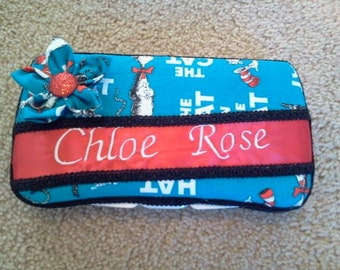 Personalized Baby Wipe Case Covers
