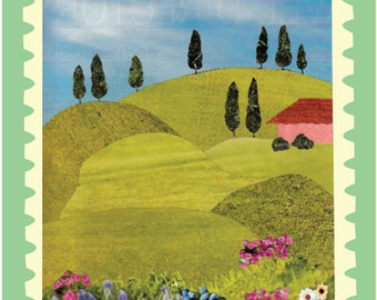 Tuscan Collage Note Cards (Set of 5)