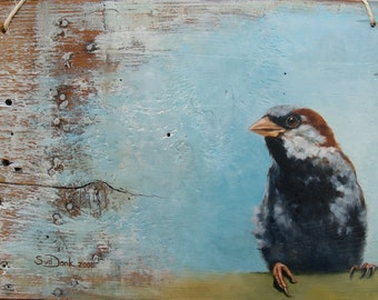 Sparrow #1 Giclee fine art print, signed