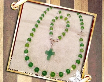 Green Aventurine & crystal