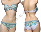 Printed swimsuit, Super sexy bikini, steel prop gather, can be thickened, beach women swimwear, add Sexy lingerie.     B008