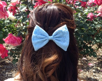 Ice Blue Lace Bow