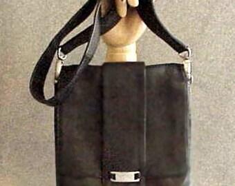 Everyday KENNETH COLE Multi-Compartment Handbag Black Glove Leather
