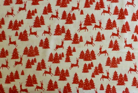 Christmas Cotton Fabric, Quilt, Home Decor Fabric, Christmas,Reindeer ...