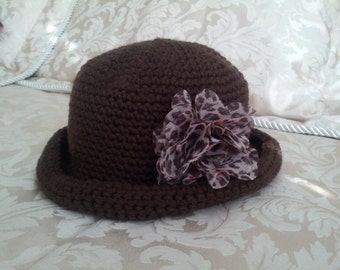 Brown Crochet Hat