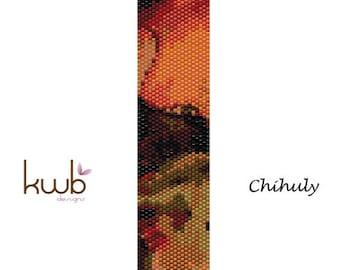Chihuly inspired peyote stitch cuff bracelet
