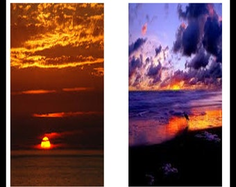 Beautiful Sunsets - Collage Images - Dominoes - Digital Downloads - Digital Collage Sheets - Sunsets Jewelry - Dominoe Pattern - DP76