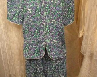 Vintage 2 Piece Floral Dress