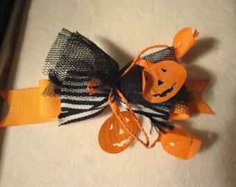 Halloween Pumpkin Barette