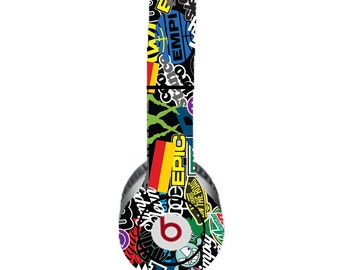 VW Colorful Black Background Beats by Dre Solo Skin  (**NOT HEADPHONES**)