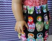 American Girl Doll Russian Nesting Dolls Skirt