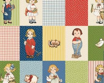 Farm Paper Dolls Blocks from Newcastle Fabrics, by the yard