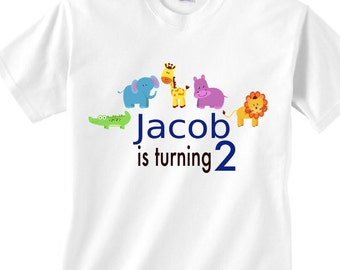 baby animals 2 year old  birthday shirt | is turning 2 baby animals | 2 year old birthday baby animals | turning 2 shirt with baby animals
