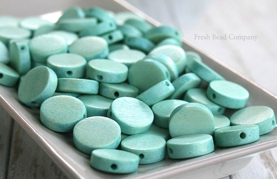 Color Bead 15mm Beads Turquoise Colored