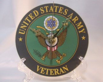US Army Logo Veteran CD Clock