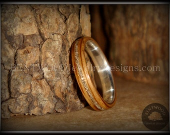 Bentwood Ring - Zebrawood Wood Ring with Fine Silver Core and Silver Glass Inlay for an extremely durable and beautiful wooden ring.
