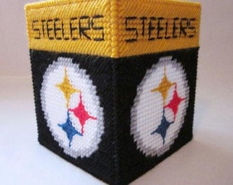 Football Team Tissue Box Cover STEELERS