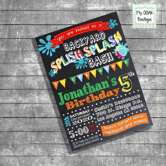 Bash Invitations Bash Invitation Birthday