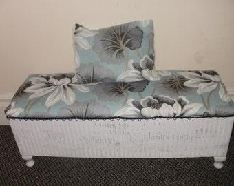Upcycled Vintage Grey Lloyd Lusty Loom Ottoman Amp Cushion