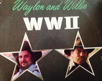 Waylon and Willie - WWII - vinyl record