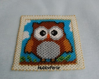 Pattern picture with Owl