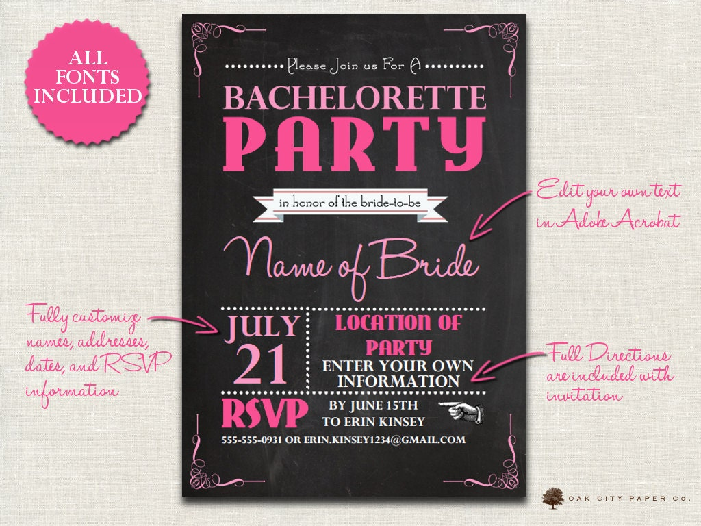 White Party Invitation Template Party Invitation Template