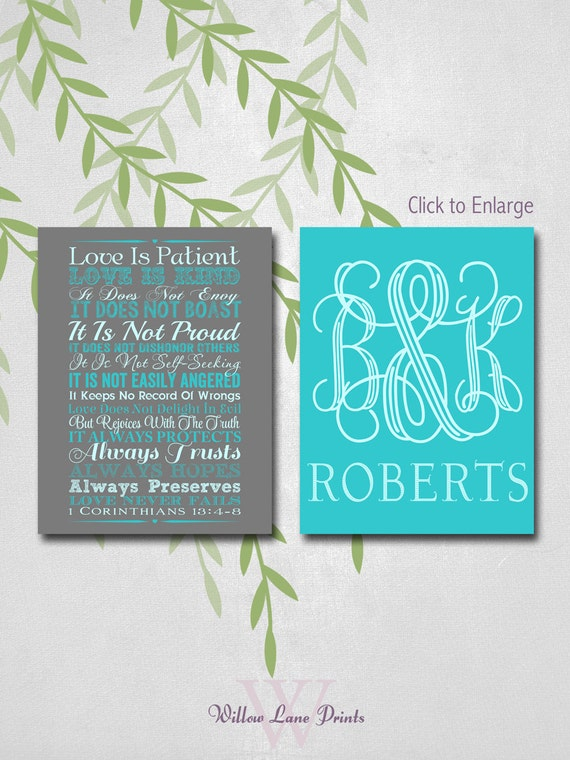 Personalized Wedding Gifts For Couple Uk : unique wedding gift for couple1st corinthians 13personalized ...