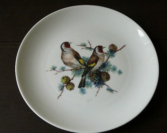 Kaiser Plate with 2 Birds, Made in West Germany, Collectible Plate @78
