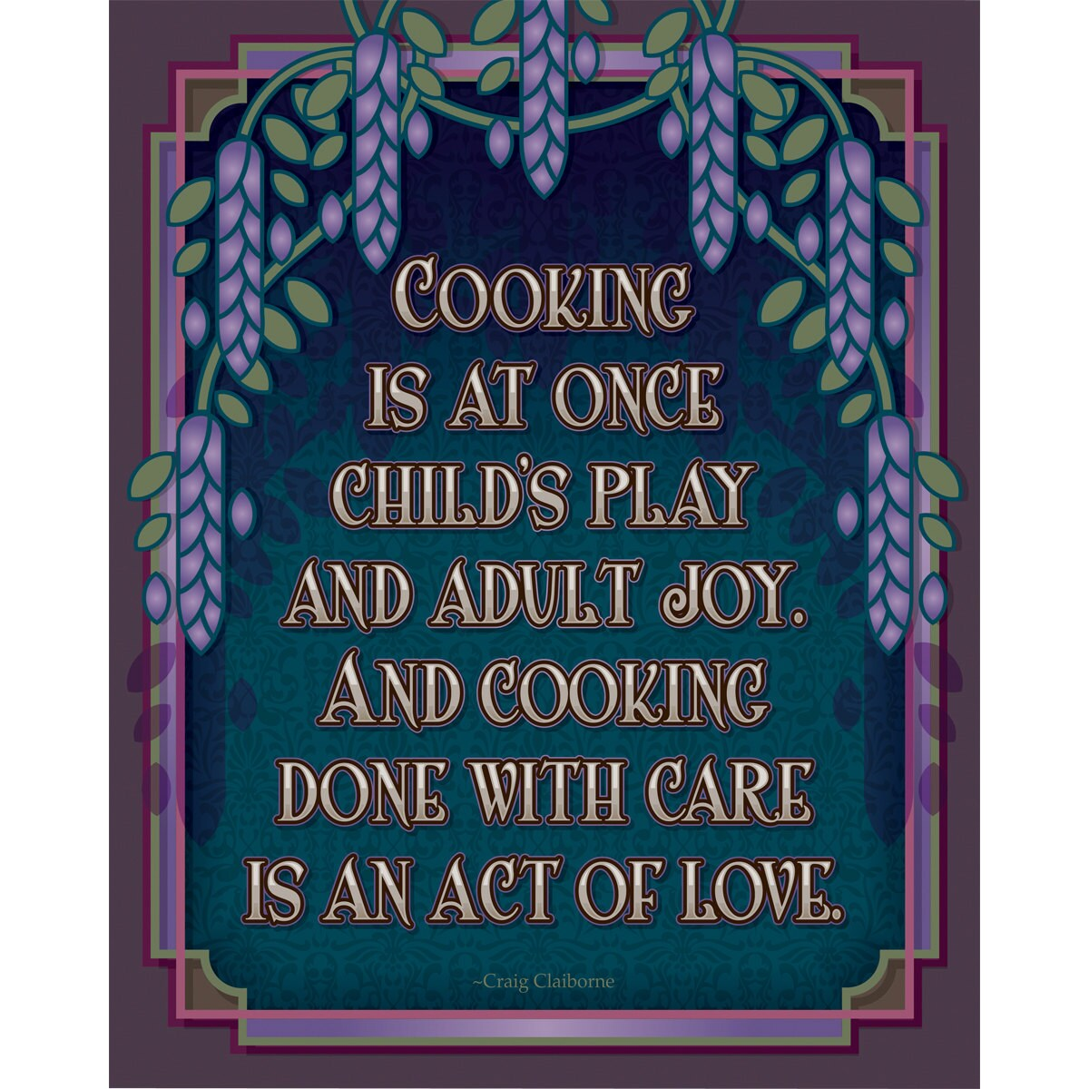 Arts And Crafts Mission Style Unframed Print Cooking Subject