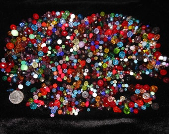 1 pound Assorted Faceted Czech Glass beads