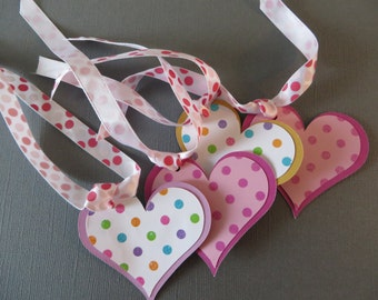 4 Heart Gift tags - great for weddings, bridal, or baby showers, or Just Because.