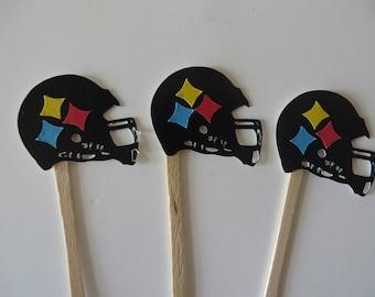 Steelers Helmet Party Picks - Hey, yinz Steelers fans, wave your Terrible Towel! - Steelers parties, football opener, Steelers fans