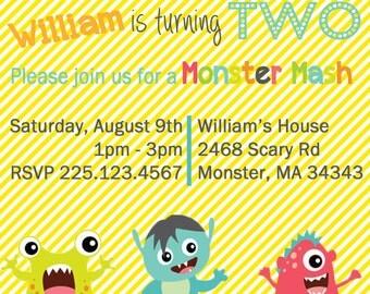 Little Monster Invitation Package