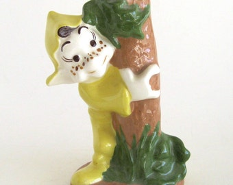 Block Pottery California Ceramic Elf Tree Hugger